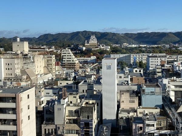ホテルから姫路城