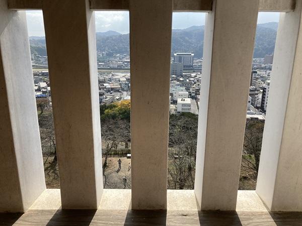 津山城 備中櫓 中から景