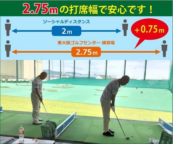 東大阪ゴルフセンター打席幅